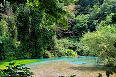 Blue eye, Albania. Image spring river Bistrice, known as Blue eye stock photography