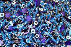 Blue eye amulets, Turkey stock images