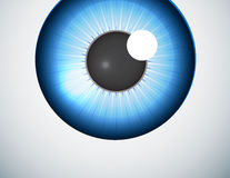 Blue eye ball background Royalty Free Stock Photography