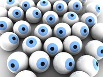 Blue eye balls Royalty Free Stock Photos