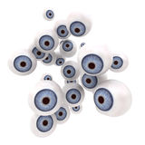 Blue eye balls staring Royalty Free Stock Images