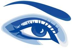 Blue eye. Beautiful stylized graphic woman eye Stock Photography