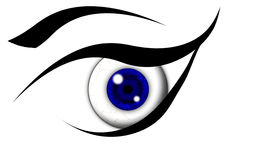 Blue eye bulb Royalty Free Stock Image