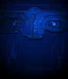 Blue eye circuit  technology background Stock Photo