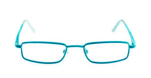 Blue eye glasses Stock Photo