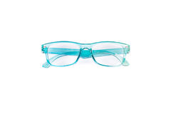 Blue eye glasses Stock Image