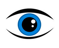Blue eye icon Stock Photo