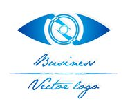Blue eye logo. For company, work or fun Stock Photo