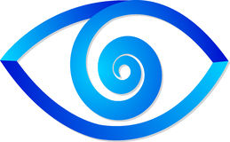 Blue eye logo Stock Photography