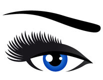 Blue eye with long eyelashes Stock Photo