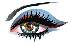 Blue Eye with Makeup Royalty Free Stock Image