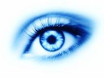 Blue eye on white background Royalty Free Stock Photos