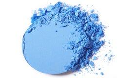 Blue eye shadow make-up crushed Stock Photography