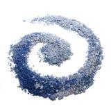 Blue eye shadows. Blue eyeshadows  spiral shaped on the white background Stock Photo