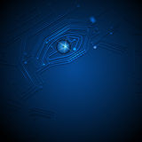 Blue eye technology  circuit board background Royalty Free Stock Image