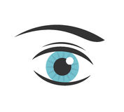 Blue eye vector Stock Image