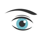 Blue eye vector. Blue woman eye icon. Vector illustration Stock Image