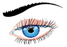 Blue eye of a woman Royalty Free Stock Images