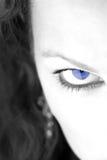 Blue Eye1. Closeup of a womans eye royalty free stock photo