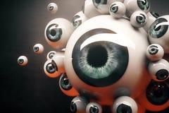 Blue eyeballs closeup Royalty Free Stock Image