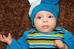 Blue-eyed baby Stock Photo