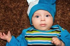 Blue-eyed baby Stock Photo