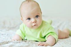 Blue eyed baby stock photo