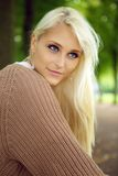Blue-eyed Blonde Beauty Royalty Free Stock Photos