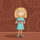 Blue-eyed blonde girl Royalty Free Stock Image