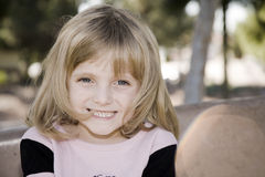 Blue Eyed Cutie. Pretty Little Girl Full Of Smiles Stock Images