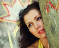 Blue-eyed girl Royalty Free Stock Photography