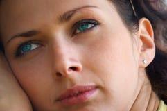 Blue-eyed girl Royalty Free Stock Photo