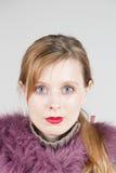 Blue eyed girl Stock Images