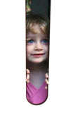 Blue eyed girl look Stock Images