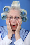 Blue-eyed granny Stock Photography