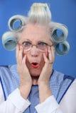 Blue-eyed granny Stock Photography