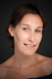 Blue eyed lady portrait Stock Image