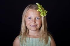 Blue-eyed little girl portrait Royalty Free Stock Images