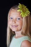 Blue-eyed little girl portrait Stock Image