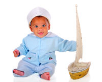 Blue-Eyed Sailor Royalty Free Stock Photography