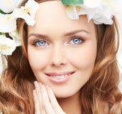 Blue-eyed spring Stock Photo