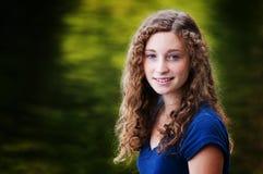Blue eyed teen. Closeup of a beautiful blue eyed teen girl Stock Image