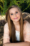Blue Eyed Teen. Portrait of a beautiful, blue-eyed, teenage girl with long blond hair Stock Photos