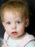 Blue eyed toddler Royalty Free Stock Image