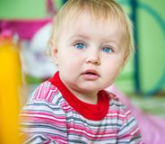 Blue-eyed toddler Royalty Free Stock Photo