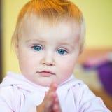 Blue-eyed toddler Royalty Free Stock Photo