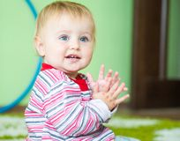 Blue-eyed toddler Stock Photography