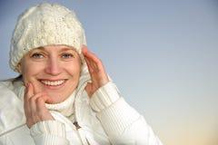 Blue-eyed woman Stock Photos