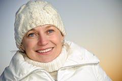 Blue-eyed woman Stock Image