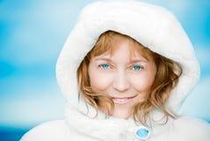 Blue-eyed woman. Stock Photo
